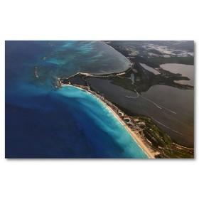 Αφίσα (Mexico, Cancun, θάλασσα, κτίρια)